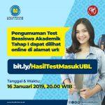 Pengumuman Hasil Test Beasiswa Akademik Tahap I