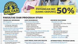 PENDAFTARAN MAHASISWA BARU – Tahun Akademik 2019/2020 Gelombang 3 s/d Agustus 2019