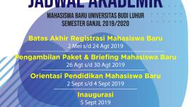 Jadwal Ordik & Jadwal Akademik Mahasiswa Baru Universitas Budi Luhur Semester Ganjil 2019/2020